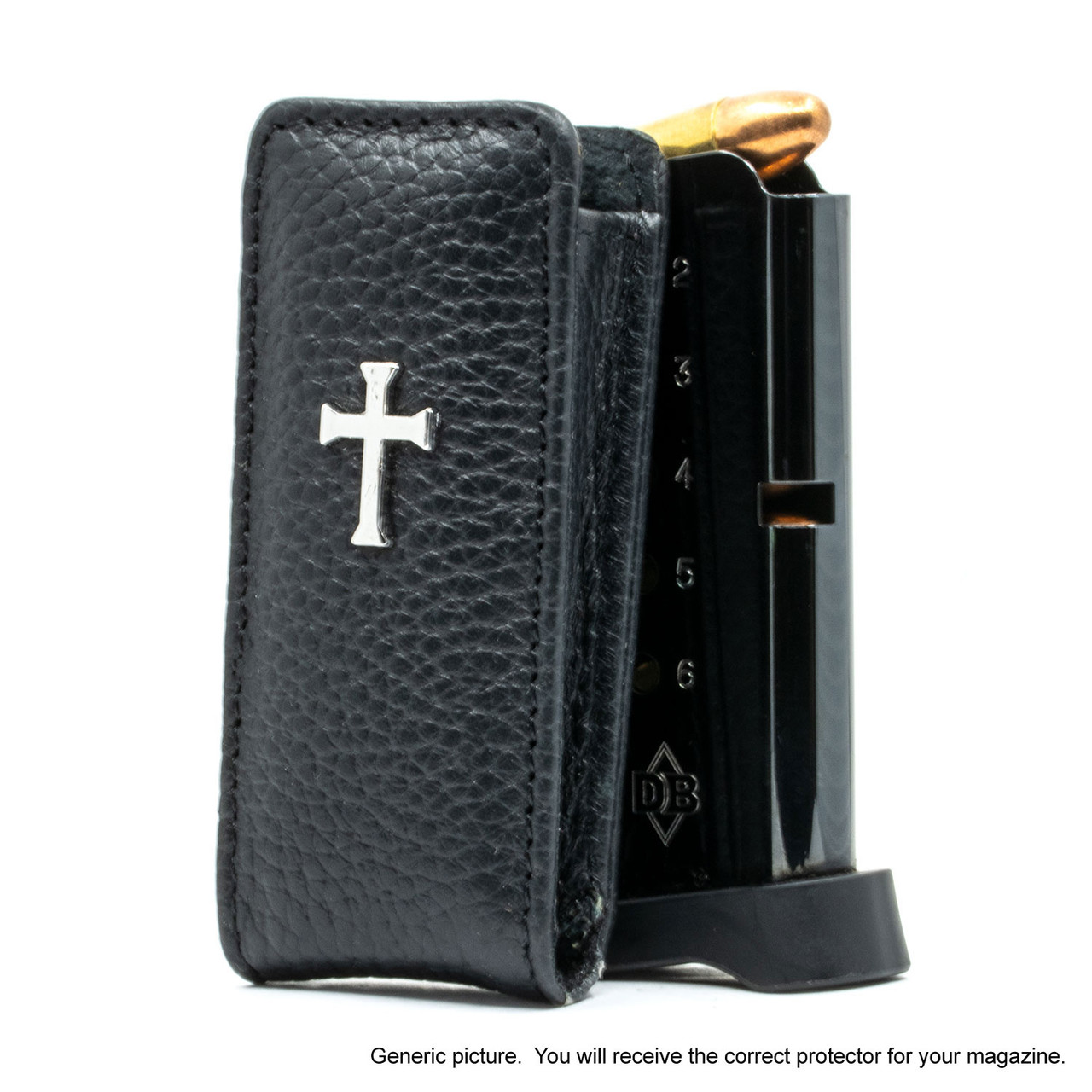 Colt Mustang Pocketlite Black Leather Cross Magazine Pocket Protector