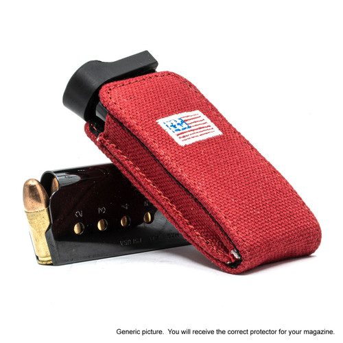Kimber Ultra Carry II Red Canvas Flag Magazine Pocket Protector