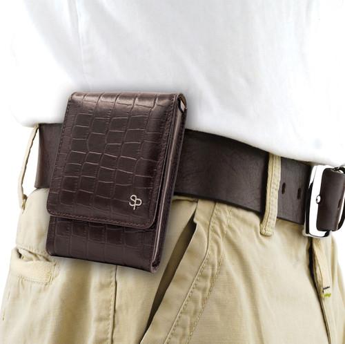 M&P Shield 9mm Brown Alligator Holster