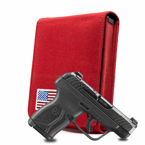 Ruger LCP MAX Red Canvas Flag Series Holster