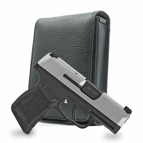 Sig P365 Black Leather Cross Series Holster