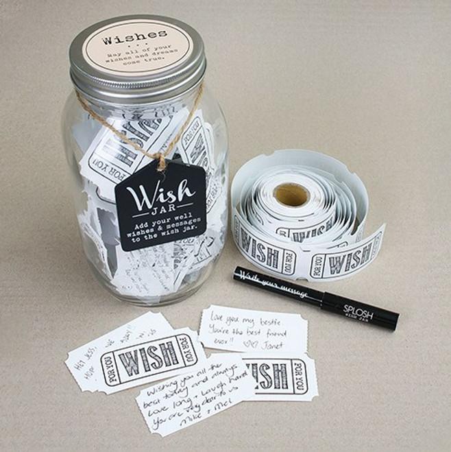 Mason Jar Wedding Wishing Well - Guest Book Alternative