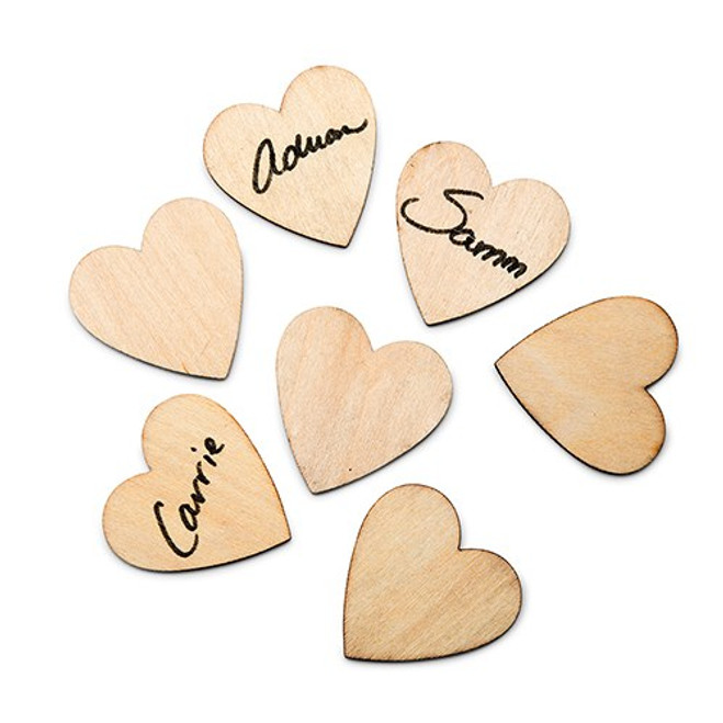 Wooden Hearts for Guest Book Drop Box