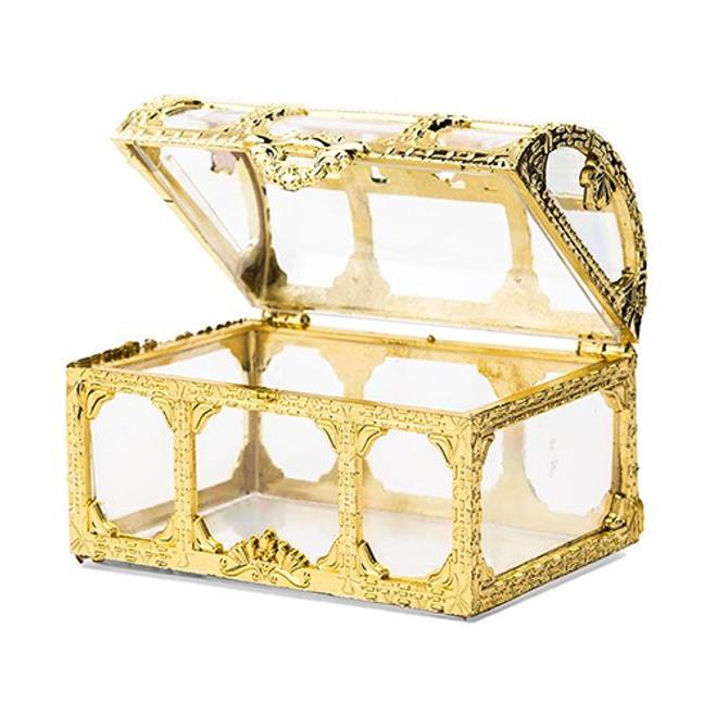 Gold Treasure Chest Favor Boxes - Nautical, Beach Wedding