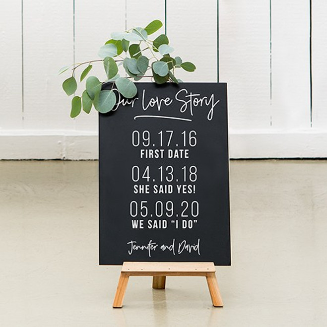 Chalkboard Wedding Sign - Love Story