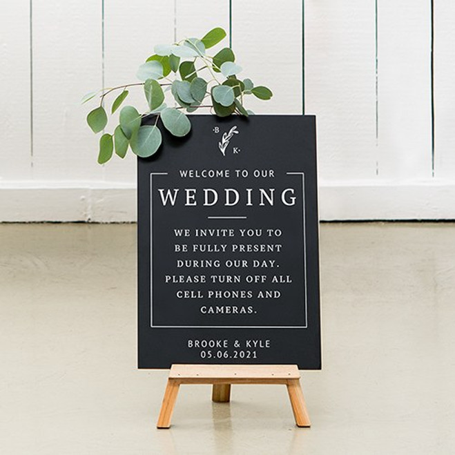 Chalkboard Wedding Sign - Rustic Love