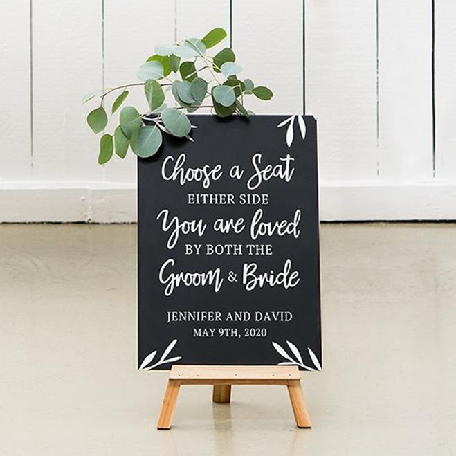 Chalkboard Wedding Sign - Choose a Seat