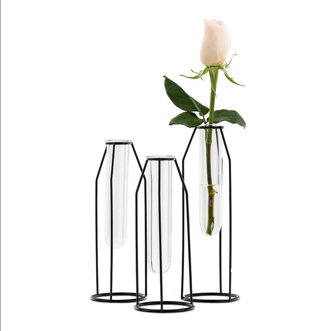 Geometric Test Tube Flower Vases Set