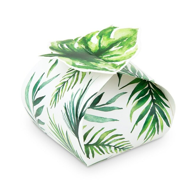 Tropical Palm Leaf Favor Boxes - Wedding, Bridal Shower