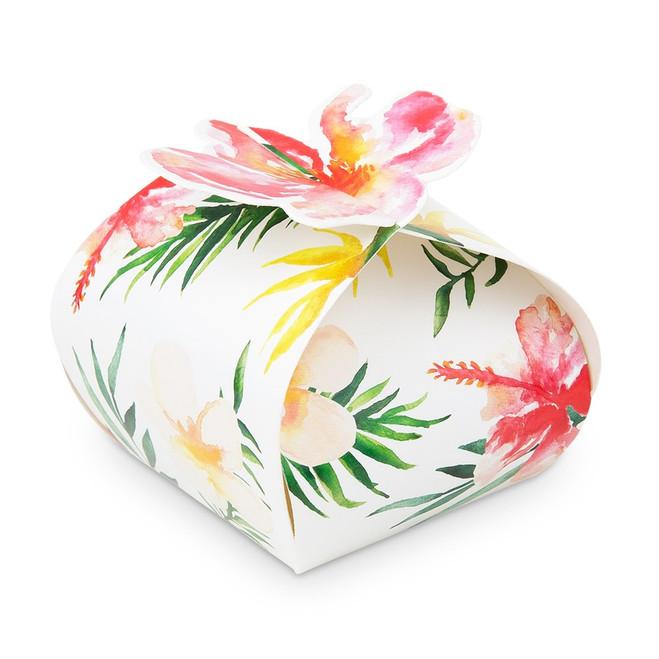 Tropical Floral Favor Boxes - Wedding, Bridal Shower