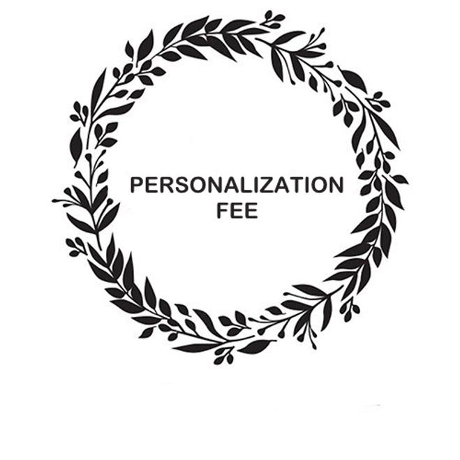 Personalization Setup Fee - $15.00