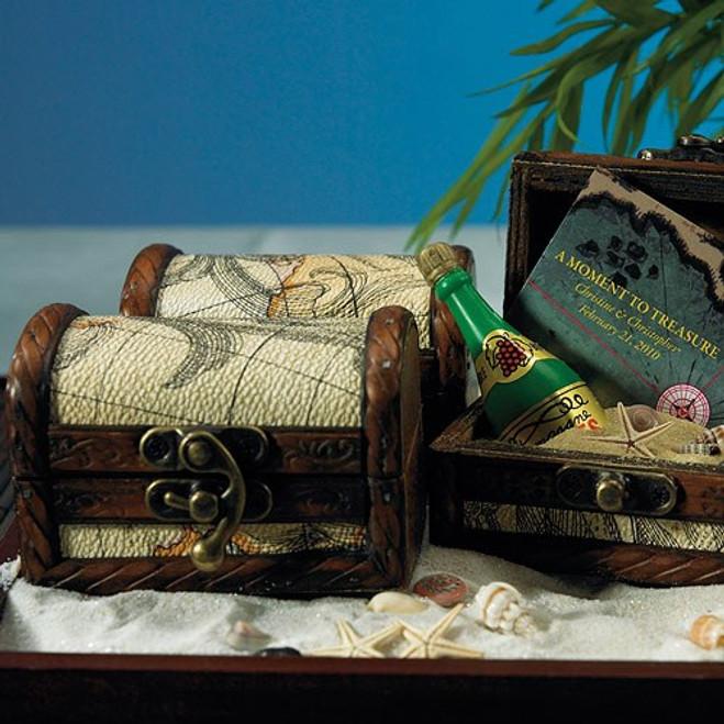 Treasure Chest Favor Boxes Nautical Beach Wedding