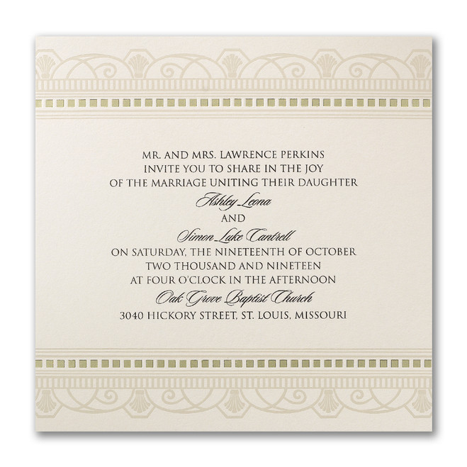 Art Deco Wedding Invitations - Decadent Deco