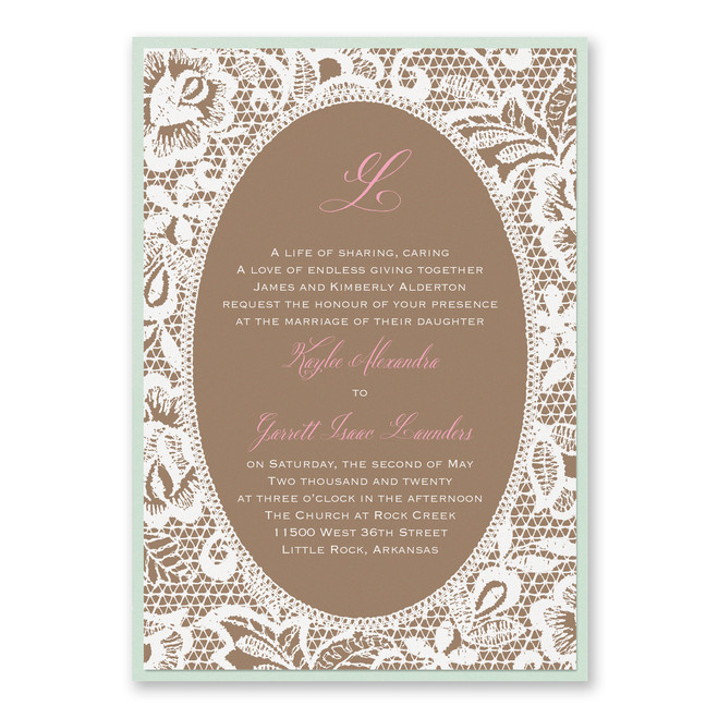 Vintage Wedding Invitations - Traditional Lace