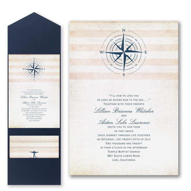 Nautical Wedding Invitations - Destination Love