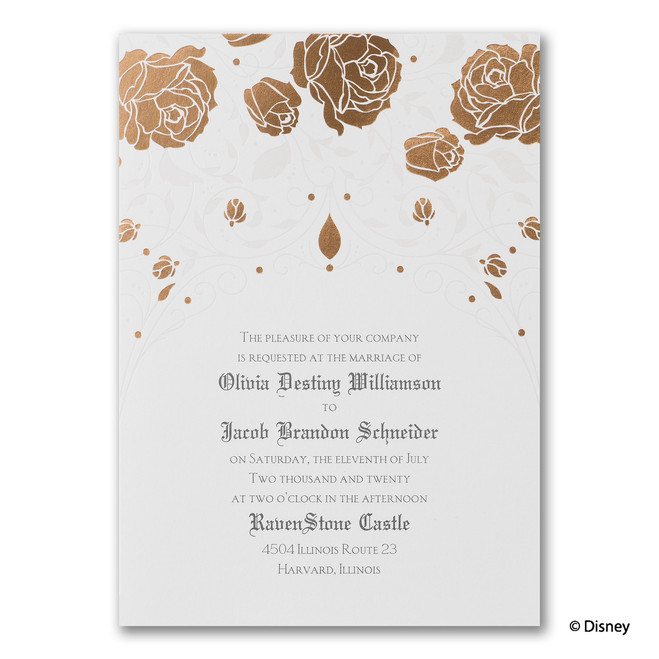 Fairy Tale Wedding Invitations - Roses and Romance