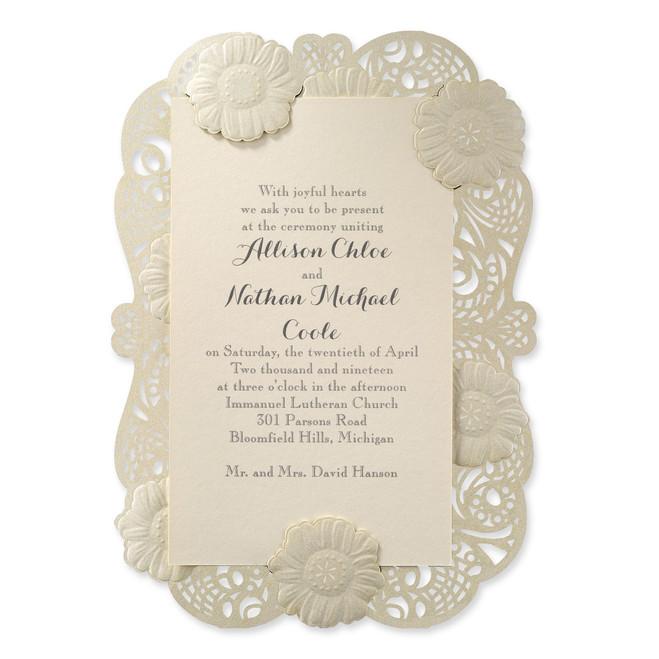Laser Cut Wedding Invitations - So Delicate