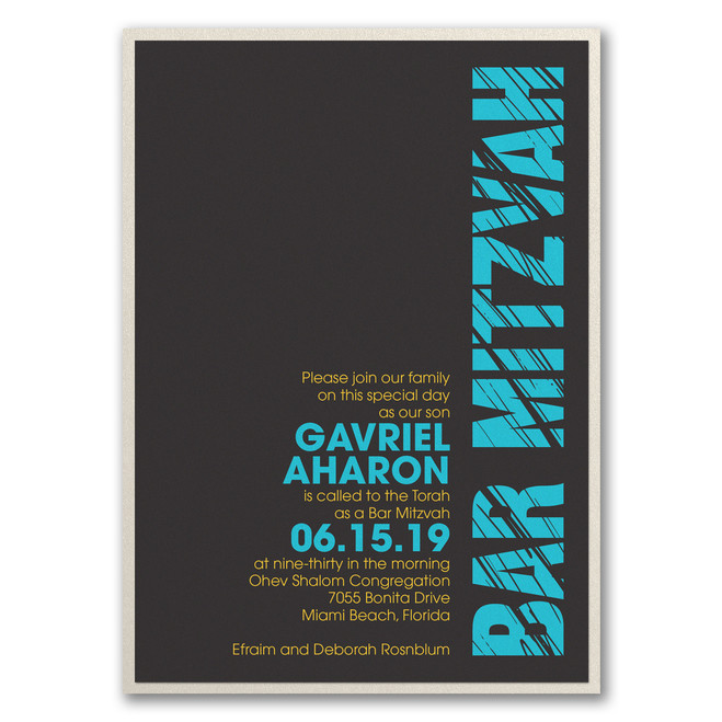 Bar Mitzvah Invitations - Mitzvah Lines