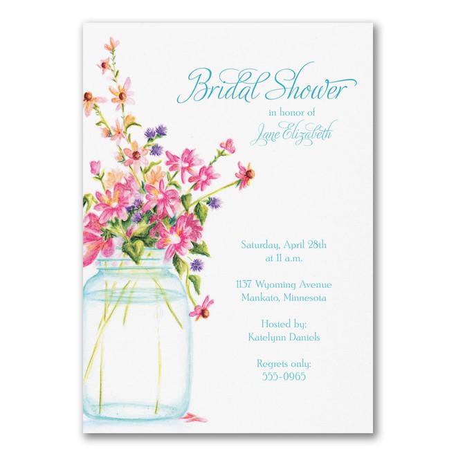 Bridal Shower Invitations - Jar of Flowers