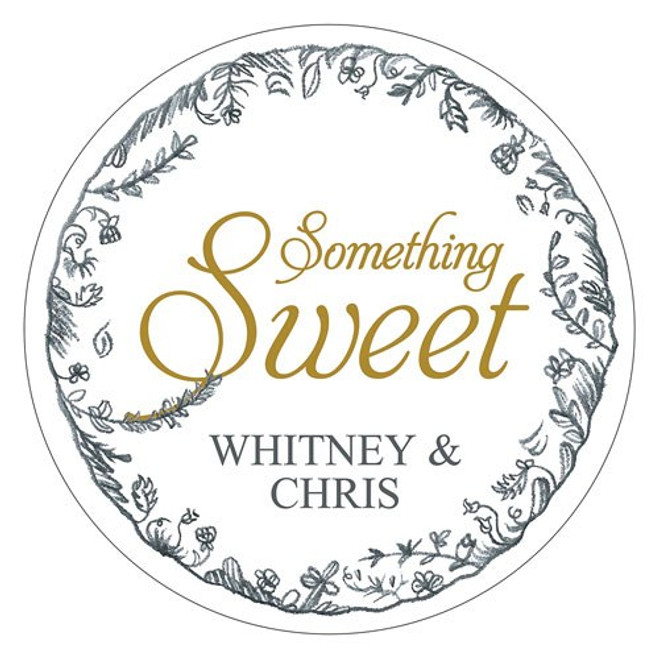 Something Sweet Favor Sticker - Vintage Style