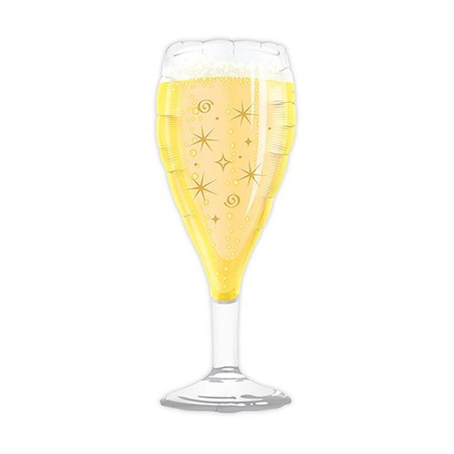 Champagne Glass Balloon - Foil