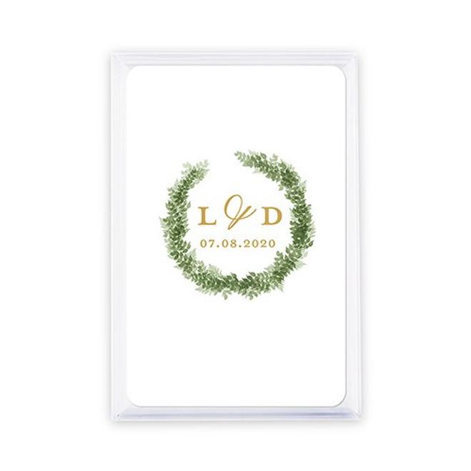 Playing Card Favors - Custom - Love Wreath