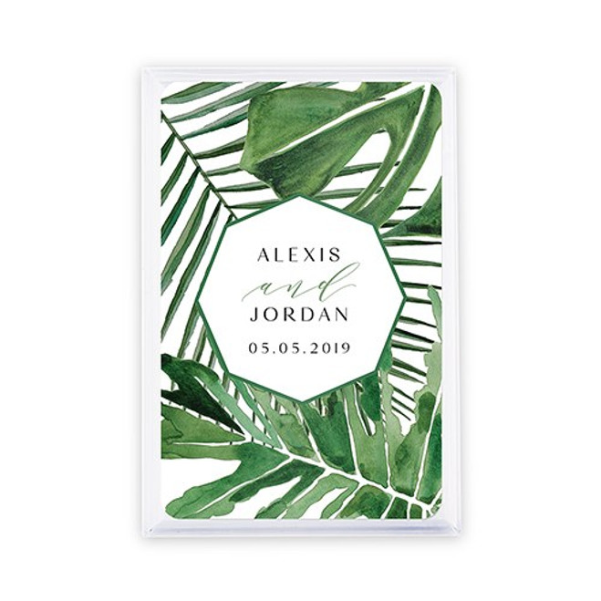 Playing Card Favors - Custom - Tropical Leaf
