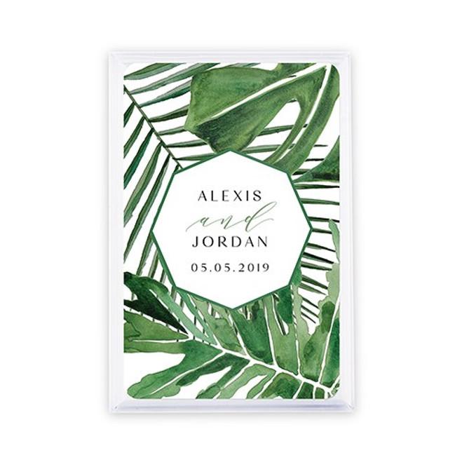 Playing Card Favors - Custom - Tropical Leaf