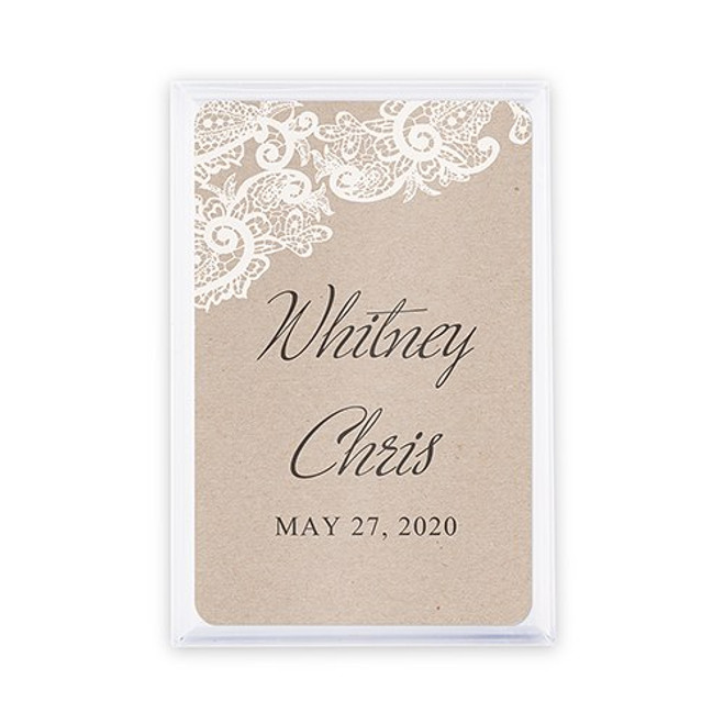 Playing Card Favors - Custom - Rustic Lace