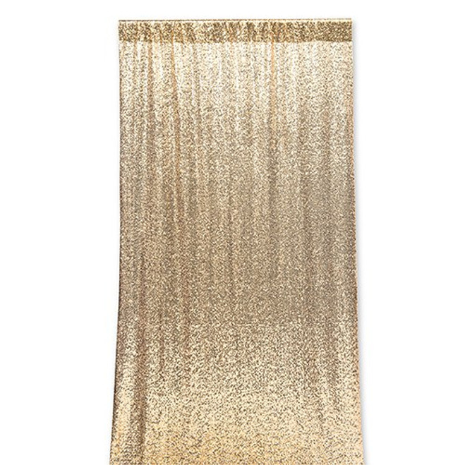 Sequin Wedding Photo Backdrop - Gold