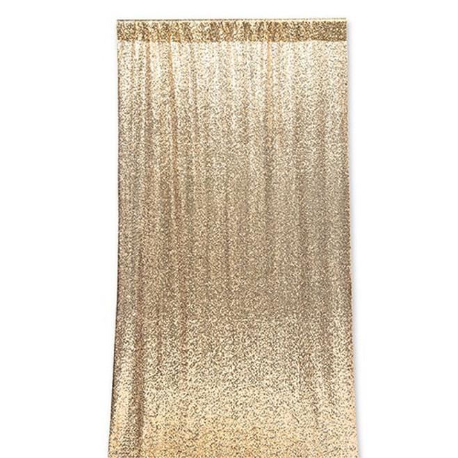 Sequin Wedding Photo Backdrop - Gold