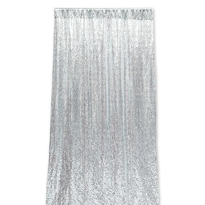 Sequin Wedding Photo Backdrop - Silver