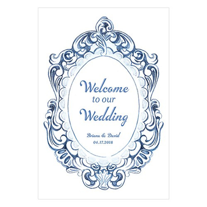 Wedding Directional Sign - Vintage Romance
