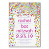 Bat Mitzvah Invitations - Bright Confetti