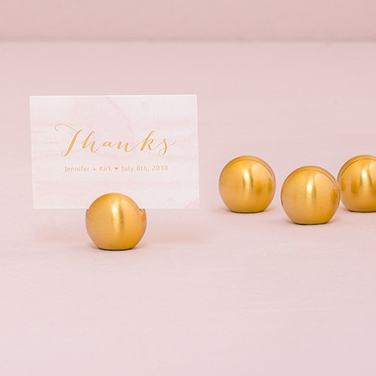 Gold Place Card Holders Round Wedding Place Card Holders