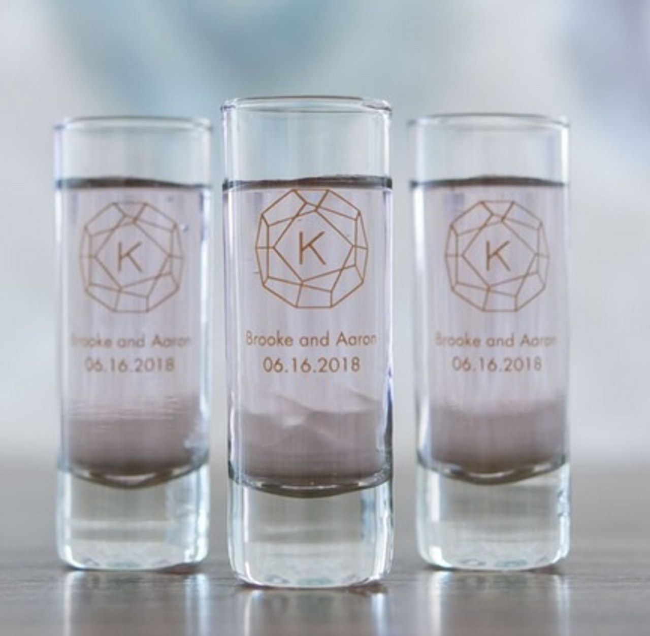 Personalized Shot Glass Favors Tall