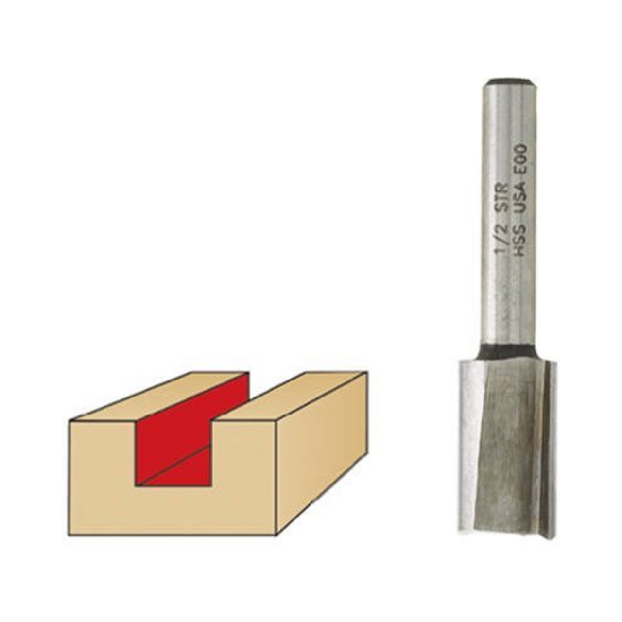 1-Flute 1//4-Inch Shank Vermont American 23102 1//4-by-5//8-Inch Carbide Tipped Straight Router Bit