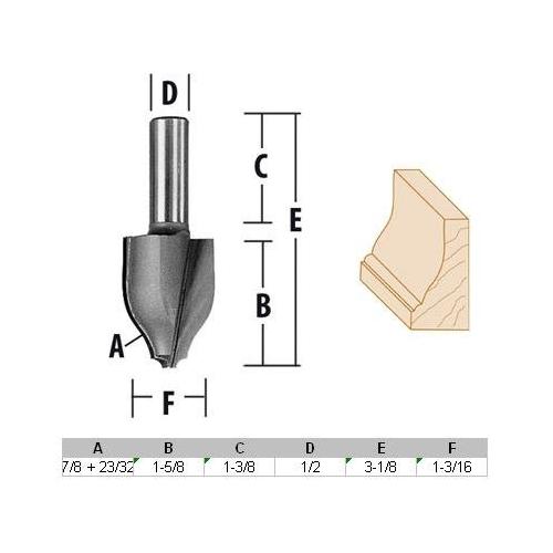x 3//4 In Solid Carbide 2-Flute U-Pieceut Spiral Bit Bosch 85909M 3//16 In