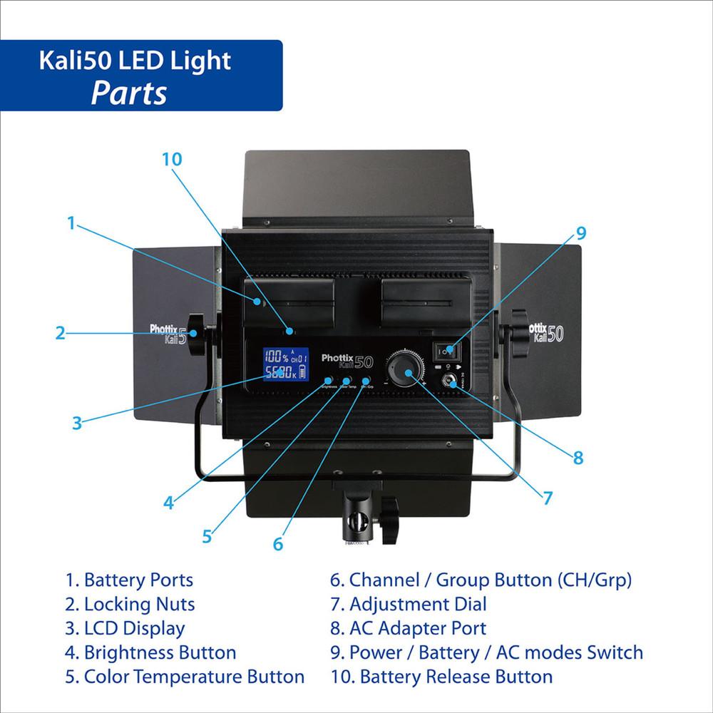 Phottix Kali50 LED Light