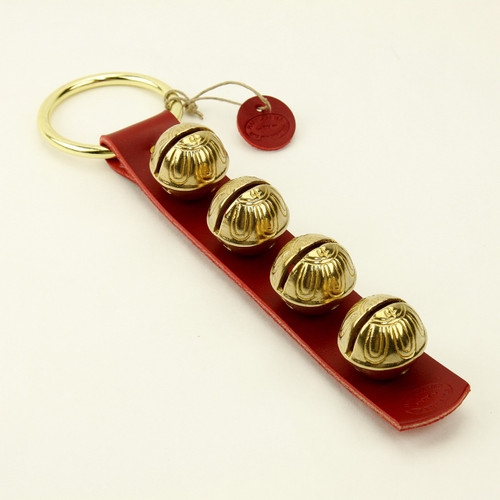 TRADITIONAL STRAP BELLS - #4 Size Bells - 4 bells on Strap