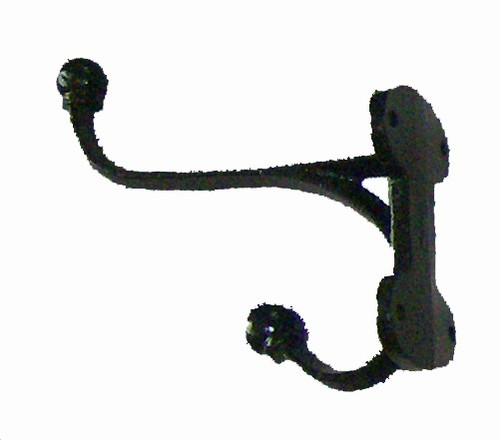Black Cast Iron Hook - 5""