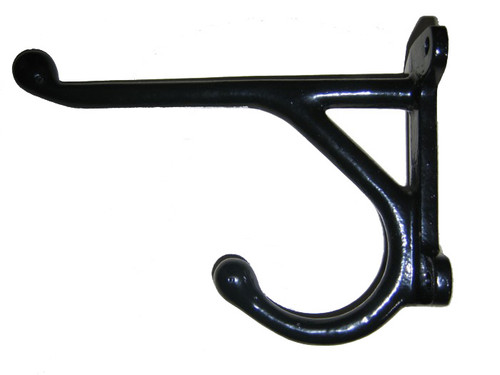 Black Cast Iron Hook - 12""