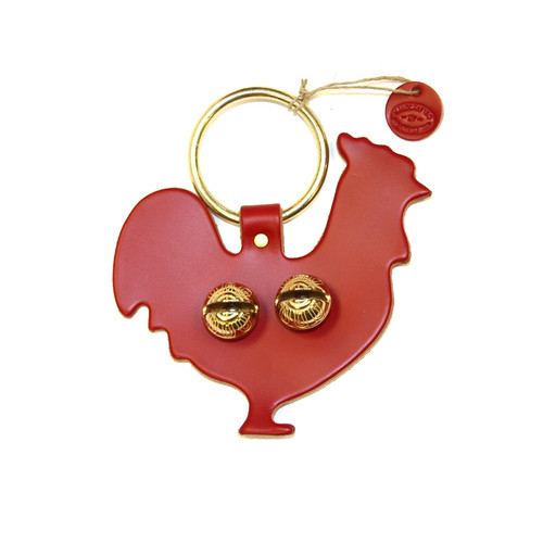 Red Leather with Brass Bells