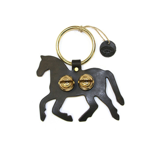 Black Leather with Brass Bells