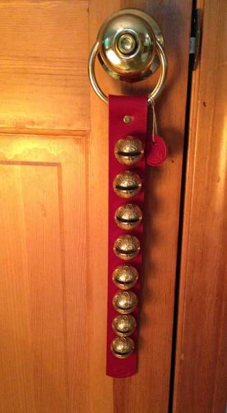 TRADITIONAL STRAP BELLS - #1 Higher Tone Bell - 8 bells per strap