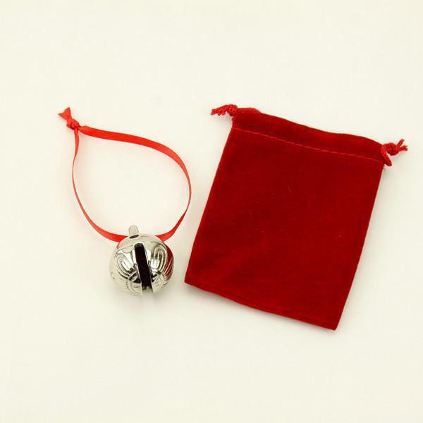 Red Velvet Bag for Polar Express Bell