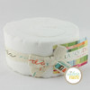 Bella Solids White - Jelly Roll (9900JR 98) by Moda House Designer for Moda