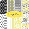 Evening Blooms - Stripe - Yellow (C3516-YELLOW) by Carina Gardner for Riley Blake PRICE PER HALF YARD