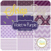Purple - Violette Scrap Bag (approx 2 yards) by Mixed Designers