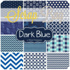 Dark Navy Blue Scrap Bag (approx 2 yards) by Mixed Designers for Southern Fabric (DARKBLUE.SB)